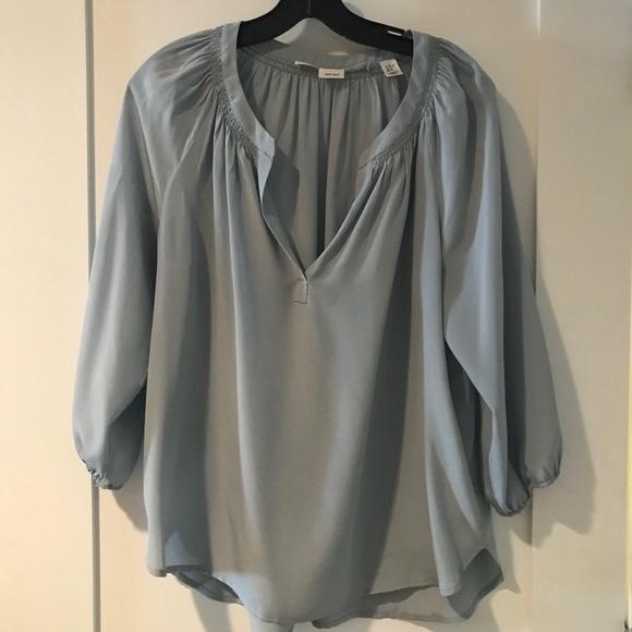 60bb0f363f3f21 Max Studio light blue silk blouse. M 5b3039160cb5aaafa9019f6e